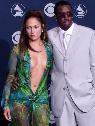 "Jennifer Lopez with boyfriend, music mogul, Sean ""Puffy"" Combs at the Grammys in 2000. Picture: AFP"
