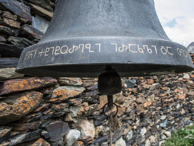 Ancient Georgian inscriptions can be found in the remote villages of Svanetia. Picture: Brian Jonsi