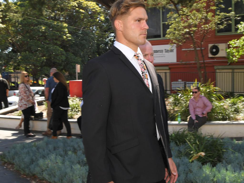 NRL star Jack de Belin has pleaded not guilty to five counts of aggravated sexual assault. Picture: NCA NewsWire / Simon Bullard