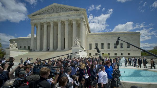 The US Supreme Court heard two and a half hours of arguments about the same-sex marriage ban in Kentucky, Michigan, Ohio, and Tennessee. Picture: Johnny Bivera
