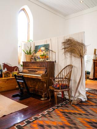 Sarah Hall and husband, Adam, have converted the former Willunga church into a home. Pic: Nick Clayton.