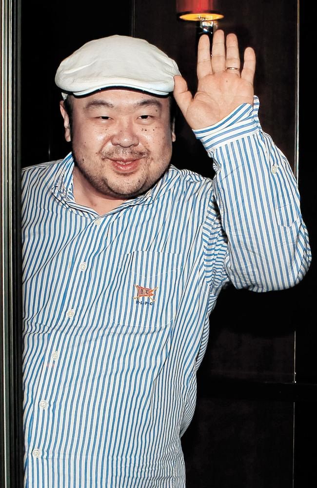 Kim Jong-nam, the eldest son of North Korea leader Kim Jong-il, waves after an interview with South Korean media representatives in Macau, where he lived in exile with his family. Picture: Joongang Ilbo