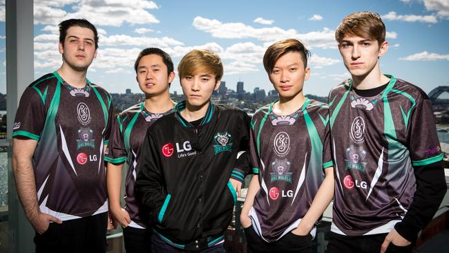 Members of the LG Dire Wolves team which turned professional this year.