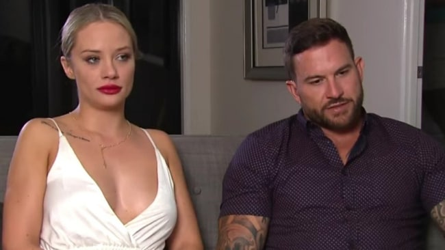 Their post show interview was... tense. Photo: Channel 9