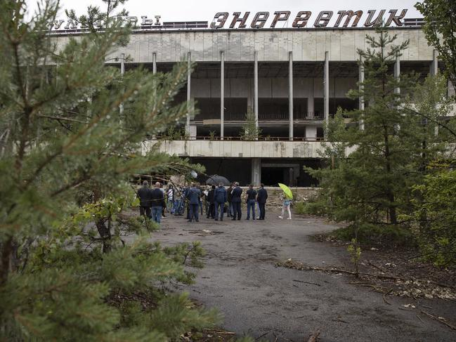 Mr Zelensky made the announcement after a boom in visitors following the release of the popular Chernobyl miniseries. Picture: AP