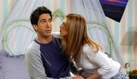 "Actor Jennifer Aniston with David Schwimmer in scene from TV program ""Friends"". /TV/programs/Titles/Friends"