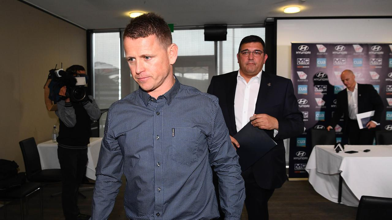 Brendon Bolton was sacked as Carlton coach in June. Picture: Quinn Rooney