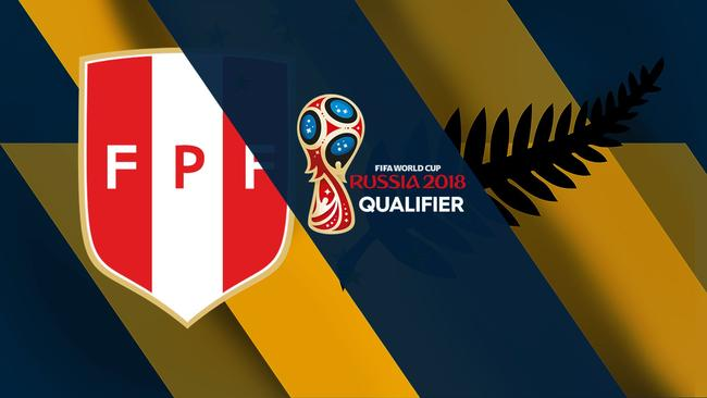 Peru versus New Zealand in second leg.