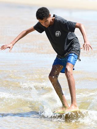 Miguel Sloan, 16, enjoys the water. Picture: Lawrence Pinder
