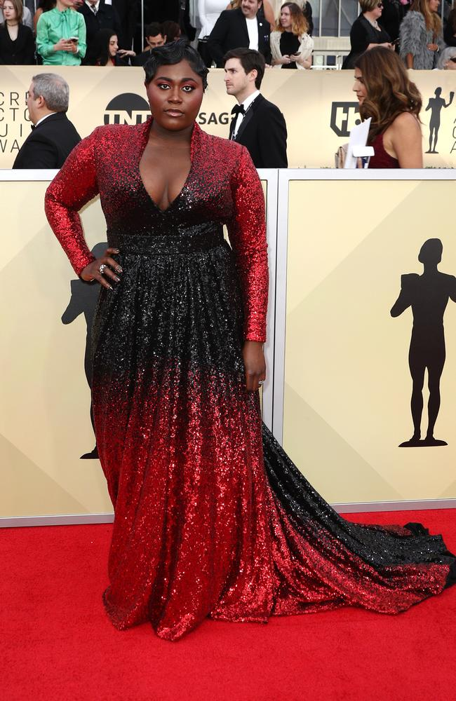 Brooks stuns in black and red. Picture: Getty