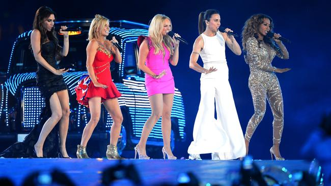 The Spice Girls last performed together during the closing ceremony of the 2012 London Olympic Games. Picture: Jewel Samad/AFP