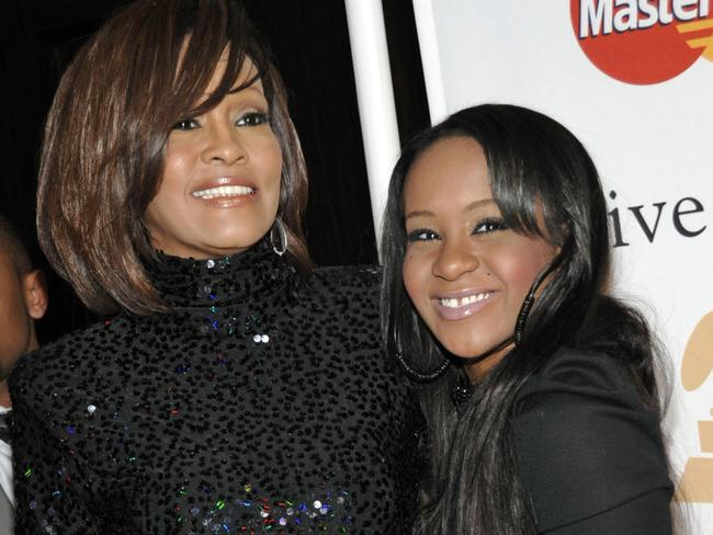 Whitney Houston with her daughter Bobbi Kristina, who never recovered from the trauma of her mother's death.