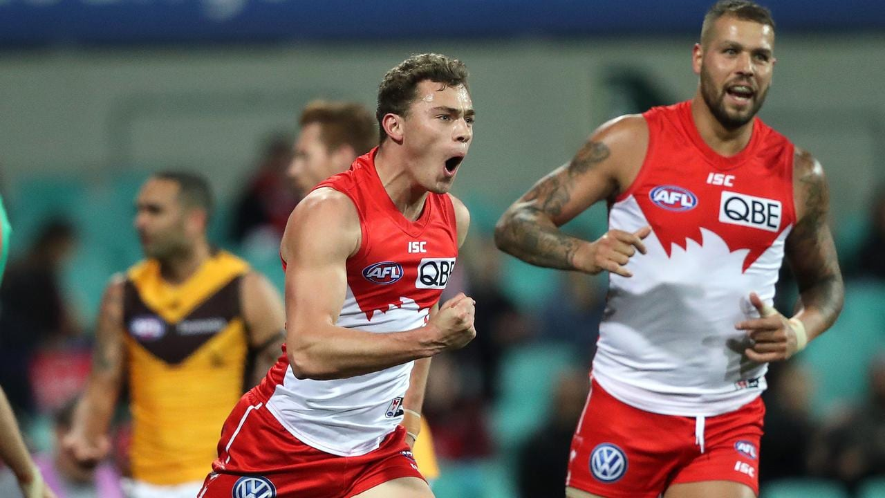 Will Hayward's Sydney Swans defeated Hawthorn. Picture: Phil Hillyard