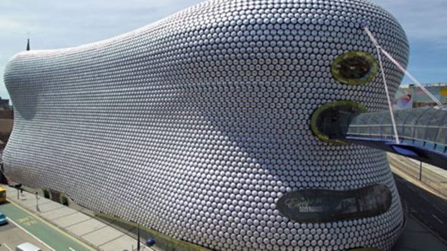 The extraordinary Selfridges department store in Birmingham, UK. The stores have becomes tourist attractions.