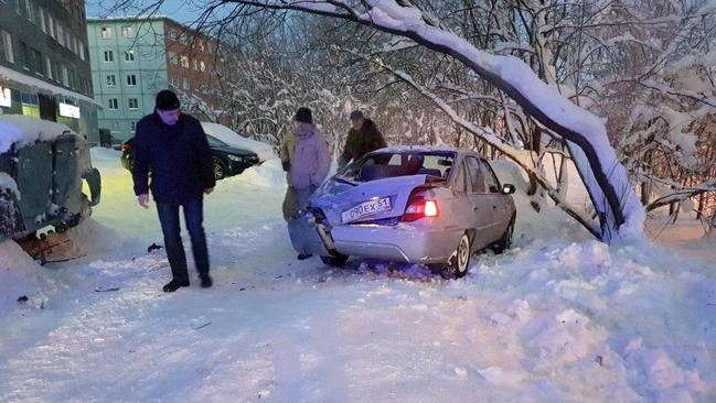 Luckily the only casualty of this dangerous mission was this car, which had no one inside it when it was hit. Picture: East 2 West News