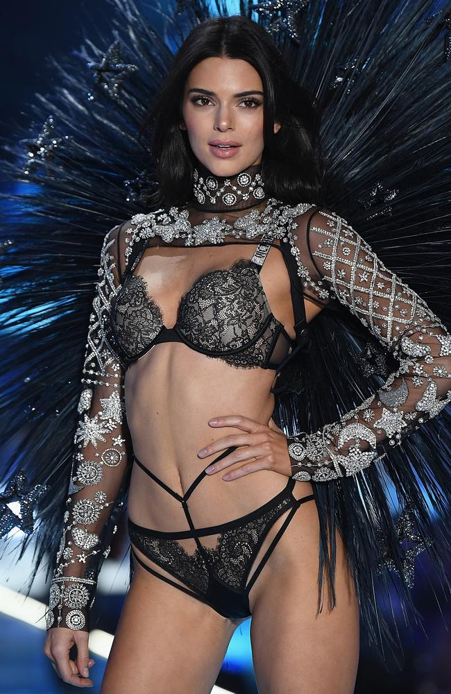 Kendall Jenner returned to the VS runway last week after a year off. Picture: Getty Images for Victoria's Secret