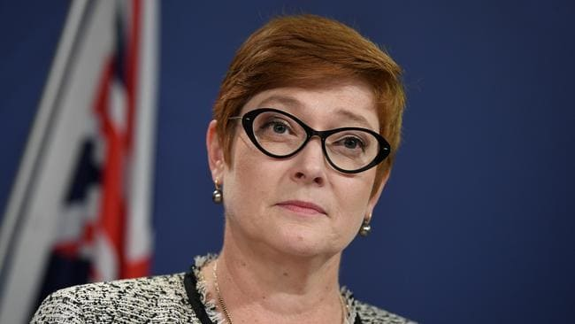 "Foreign Minister Marise Payne said Australia remained ""deeply concerned"" about Uighurs in Xinjiang."