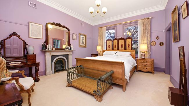 The master bedroom is vast and has ample room for period furniture.