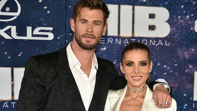 Chris and wife Elsa Pataky. Image: Getty