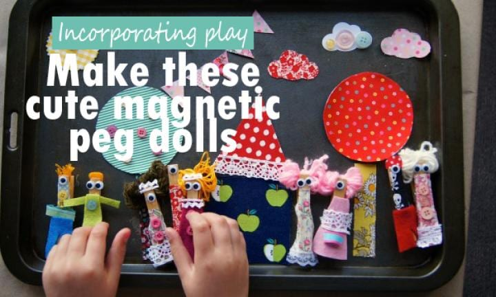 Make your own magnetic peg dolls