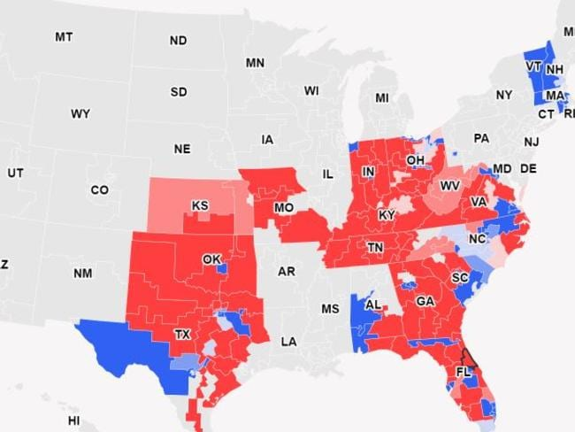 CNN's latest election map. Pic: CNN