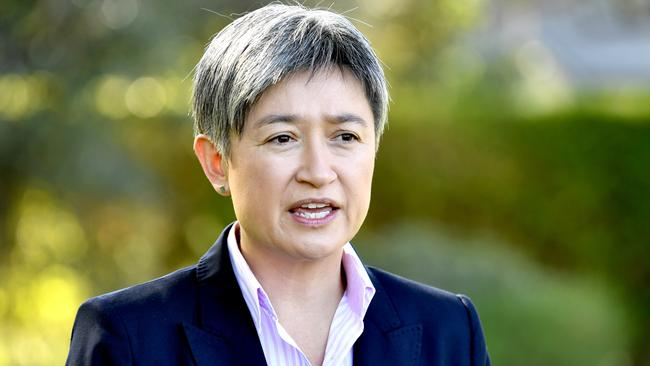 Penny Wong has endorsed Anthony Albanese to be leader of the Federal Labor Party. Picture: Sam Wundke/AAP