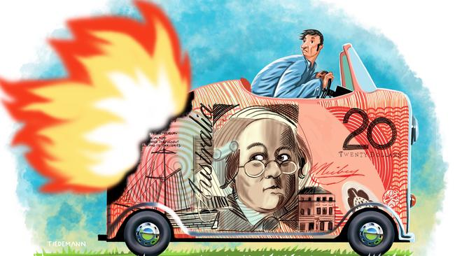 Your car doesn't have to burn a huge hole in your finances. Illustration: John Tiedemann