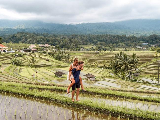 At the moment the couple is based in Bali.