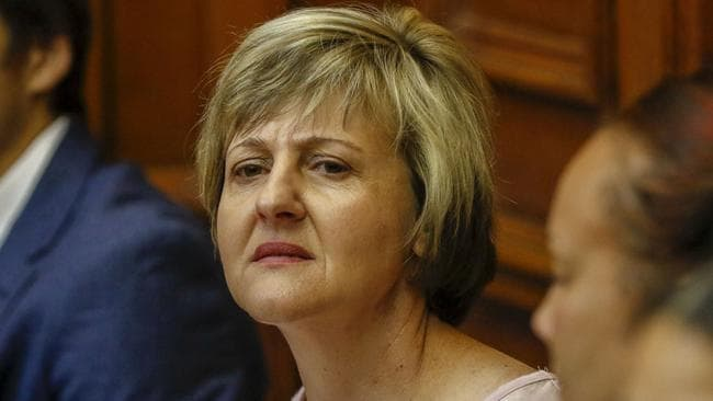 Hannah's mother looked distressed at the court. Picture: Adrian de Kock/Gallo Images/ Netwerk 24