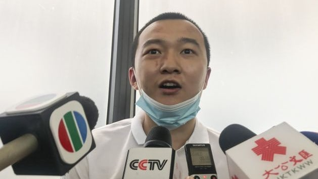 Fu spoke to the media after he was released from hospital.