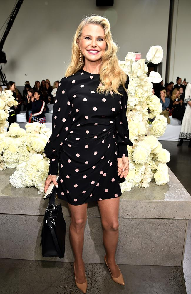 Christie Brinkley looks decades younger than her 64 years. Picture: Theo Wargo