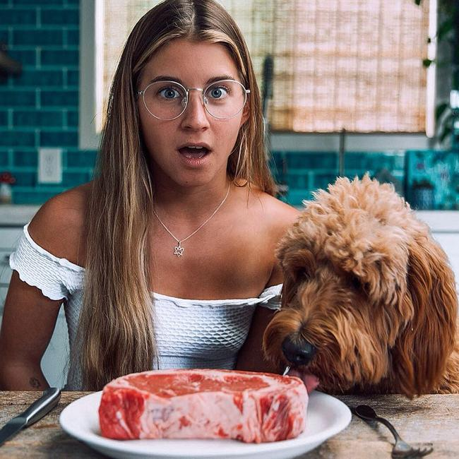 Alyse Parker gained social media fame for her vegan content - but recently tried out a 30 day carnivore diet which involved only eating meat. Picture: Instagram / Alyse Parker