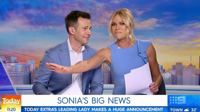 Sonia begged her co-host not to get her too emotional. Picture: Today Extra