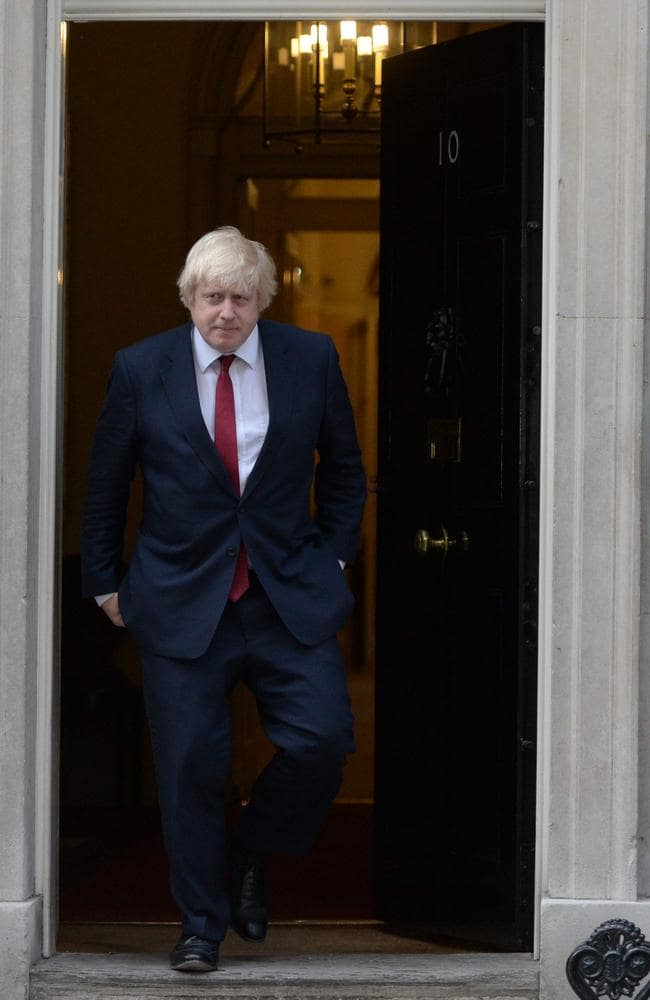 Boris Johnson leaves 10 Downing Street in central London picture: AFP