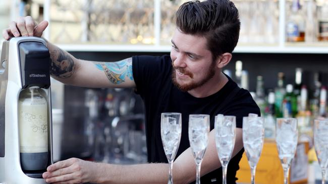 Wine it up: SodaStream has become popular with fans of sparkling wine too. Pic Adam Smith