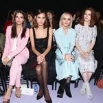 Emily Ratajkowski, Alexa Chung, Christina Ricci and Rose Leslie attend the Altuzarra fashion show during New York Fashion Week on February 12, 2017 in New York City. Picture: Getty