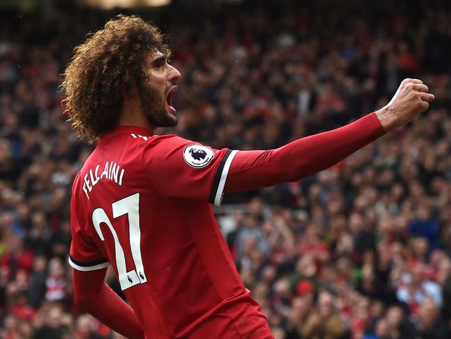 Marouane Fellaini. / AFP PHOTO / PAUL ELLIS