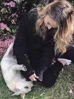 "Puppy Love: ""Family time. How ridiculous is Stevi? Cuteness overload!"" Picture: Jennifer Hawkins / Instagram"