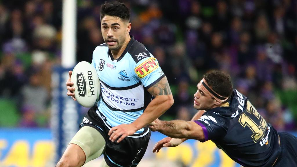 Shaun Johnson was in a moon boot as he left Saturday's game.