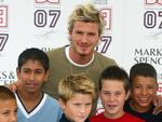 <p>2002: Manchester United's David Beckham unveils his range of Boyswear in Marks & Spencer store in Manchester Fashion Soccer.</p>