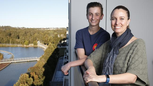 Tanya and her son Isaac, 16, live in a block where many of the apartments are vacant. Picture: David Swift
