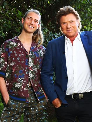 Christian Wilkins with his dad, Channel 9's entertainment guru, Richard Wilkins. Picture: John Feder/The Australian.