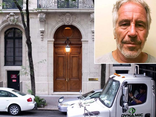 Jeffrey Epstein's Manhattan mansion has become a grisly tourist attraction since his jailhouse suicide in August. Picture: Supplied