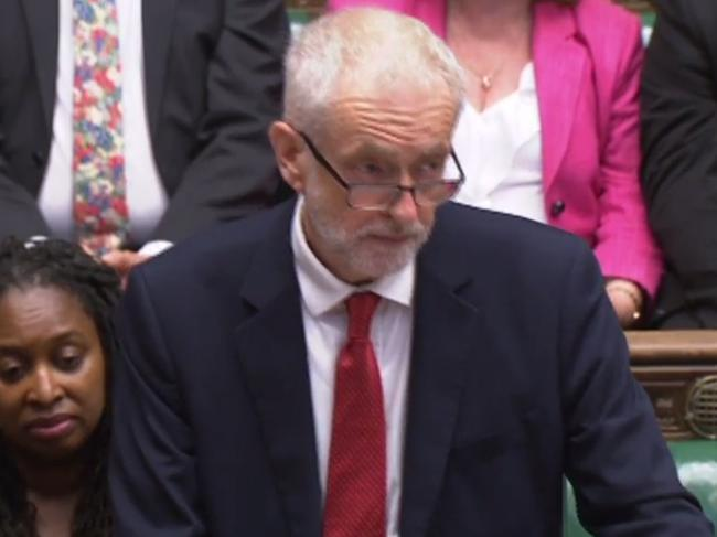 Britain's opposition Labour Party leader Jeremy Corbyn speaking in the House of Commons in London on July 25, 2019. Picture: AFP