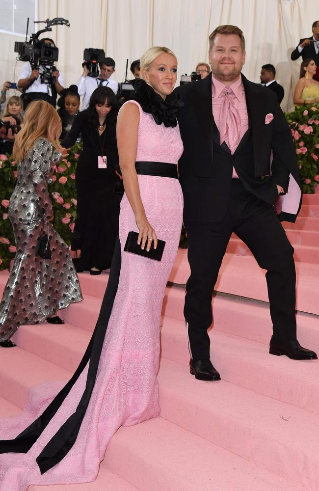 James Corden and Julia Carey at the 2019 Met Gala.
