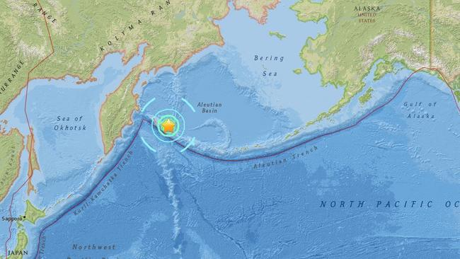 Russia tsunami fears of sea surge after 74 earthquake an automated map of the quake supplied by the us geological survey gumiabroncs Image collections