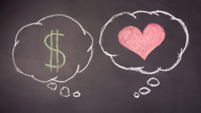 Forget love - it's all about money. Photo: iStock