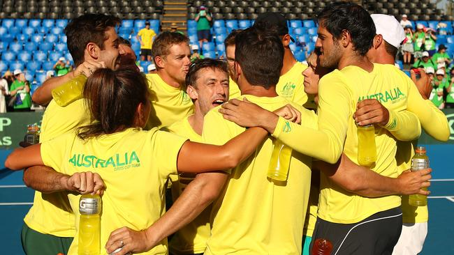 The Aussies face Belgium and Colombia in the new-look Davis Cup finals