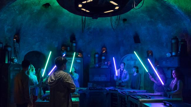 At Savi's Workshop Handbuilt Lightsabers, guests will have the opportunity to customise and craft their own lightsabers. Picture: Joshua Sudock/Disney Parks.