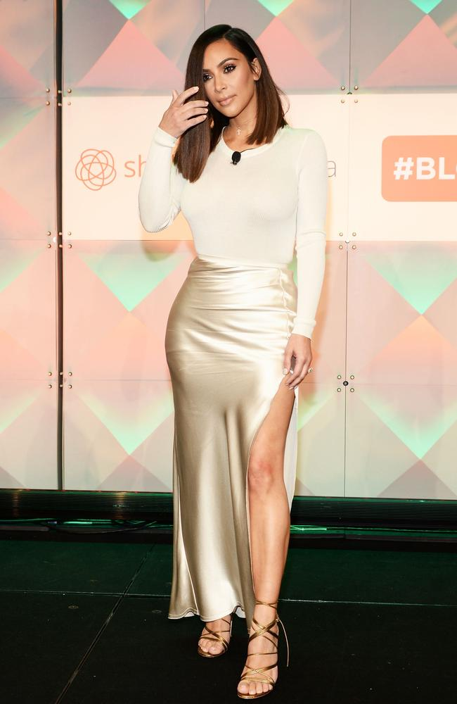 Kim Kardashian, pictured at the #BlogHer16 Experts Among Us conference in Los Angeles. Picture: Matt Winkelmeyer/Getty Images